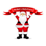 Santa Claus wishes everyone a Merry Christmas.  Royalty Free Stock Photos