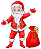 Santa Claus Wishing Christmas y Año Nuevo stock de ilustración