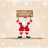 Santa Claus wishing Merry Christmas Royalty Free Stock Photography