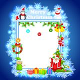 Santa Claus wishing Merry Christmas Royalty Free Stock Photo
