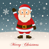 Santa Claus Wishing a Merry Christmas Stock Images