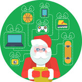 Santa Claus and a Wishlist Royalty Free Stock Photo