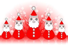 Santa Claus With Background Stock Image