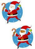Santa Claus With Candy Canes Royalty Free Stock Images