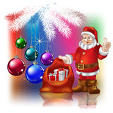Santa Claus With Christmas Gifts Royalty Free Stock Image