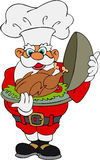 Santa Claus With Christmas Turkey Stock Image