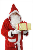 Santa Claus With Gift Stock Photo