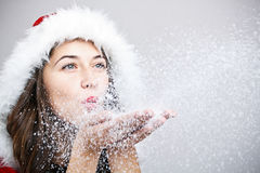 Santa Claus woman Royalty Free Stock Images