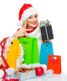 Santa claus woman Stock Photo