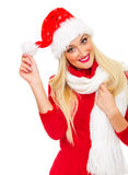 Santa claus woman Stock Image