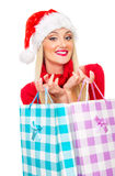 Santa claus woman Stock Photography