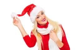 Santa claus woman Stock Photography