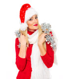 Santa claus woman Royalty Free Stock Photos