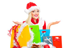 Santa claus woman Stock Photos