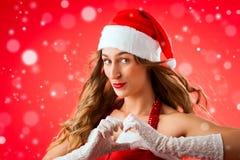 Santa Claus woman Royalty Free Stock Photos
