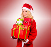 Santa Claus woman Royalty Free Stock Photography