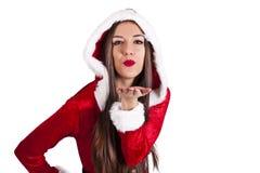 Santa claus woman Royalty Free Stock Photography