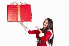 Santa claus woman Stock Image