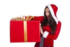 Santa claus woman Royalty Free Stock Photo