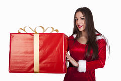 Santa claus woman Stock Photos