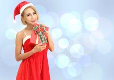 Santa claus woman stock photo