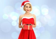 Santa claus woman royalty free stock image