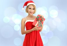 Santa claus woman stock images