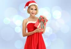 Santa claus woman stock images