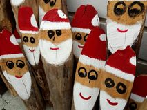 Santa Claus wooden team Royalty Free Stock Image
