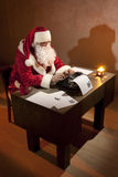Santa Claus working Stock Image