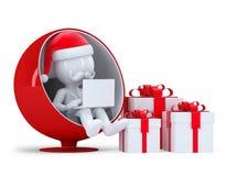 Santa Claus working on laptop computer Royalty Free Stock Photo
