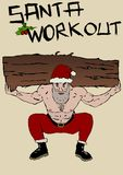 Santa Claus workout Royalty Free Stock Images