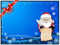 Santa-Claus writing on scroll Royalty Free Stock Image