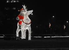 Santa Claus xMas-b&w Royaltyfri Bild