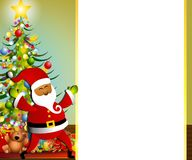 Santa Claus Xmas Border Royalty Free Stock Photos