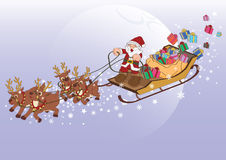 Santa Claus Xmas gift Stock Photography
