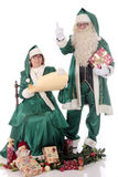 Santa Claus and Xmas woman Royalty Free Stock Images