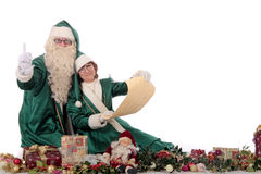 Santa Claus and Xmas woman Royalty Free Stock Photography