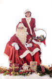 Santa Claus and Xmas woman Stock Images