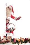 Santa Claus and Xmas woman Stock Photography