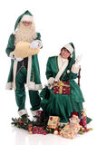 Santa Claus and Xmas woman Stock Photography
