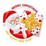 Santa Claus y hoja en blanco Fotos de archivo libres de regalías