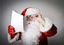 Santa Claus y letras imagenes de archivo