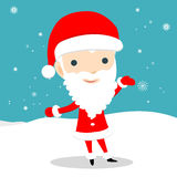 Santa Claus. Young Santa Claus. Santa Claus with open arms. A cartoon character of a young Santa Claus. Vector illustration for retro christmas card. Santa claus royalty free illustration