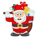 Santa Claus For Your Design Vector-Illustration Lizenzfreies Stockbild