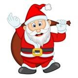 Santa Claus For Your Design Vector-Illustration Stockfotos