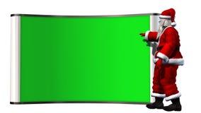 Santa Claus z zielonym bilboard Obraz Royalty Free
