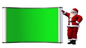 Santa Claus z zielonym bilboard Obrazy Stock