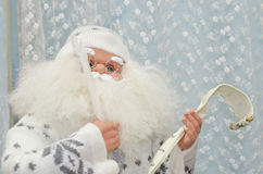 Santa Claus-Zahl Weihnachten und Dekoration des neuen Jahres Stockbilder