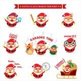 Santa Claus-Zeichensätze Lizenzfreie Stockbilder